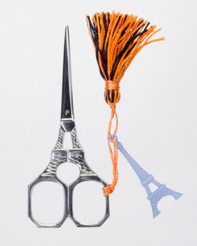 Eiffel tower scissor with blue tassel