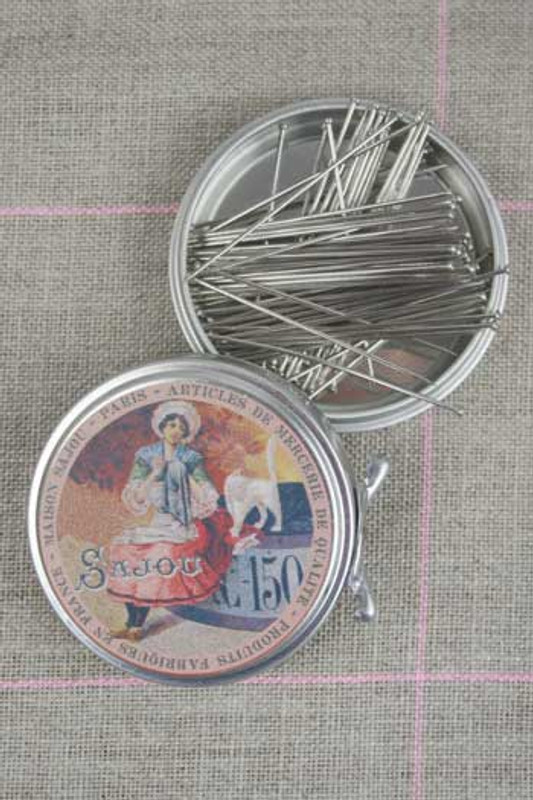 Metal Tins with Dressmaker's Pins No. 12 -  7/8""
