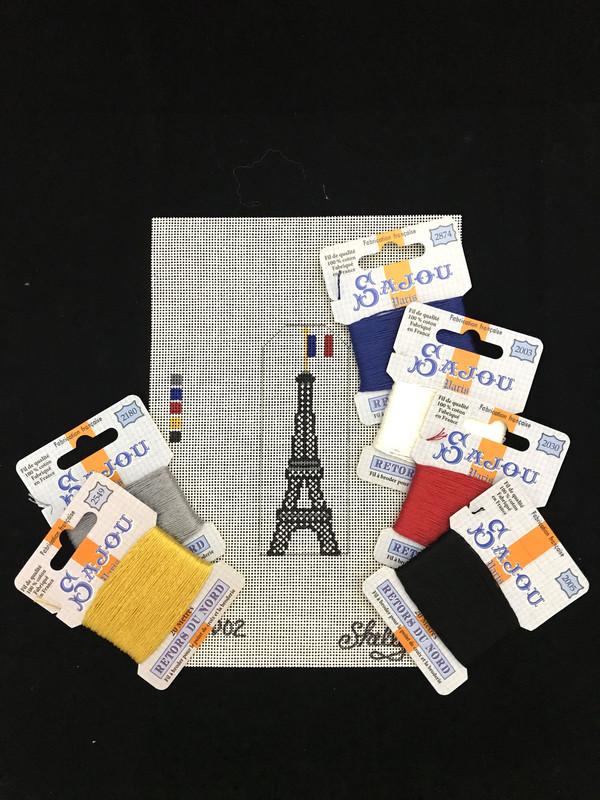 Tour Eiffel Needlepoint Kit