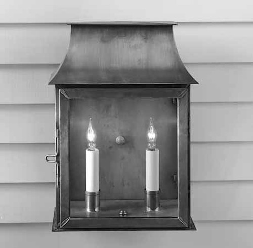 Federalist Mansard Wall Mount Lantern Medium