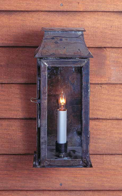 Federalist Mansard Single Light Wall Mount Lantern