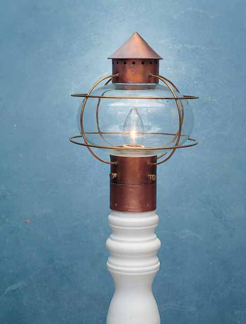Nantucket Onion Post Mount Lantern