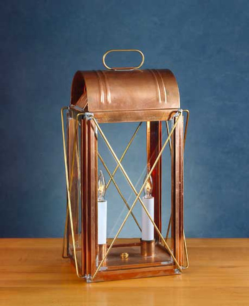 Early American Paul Revere Cross Bar Table Lantern