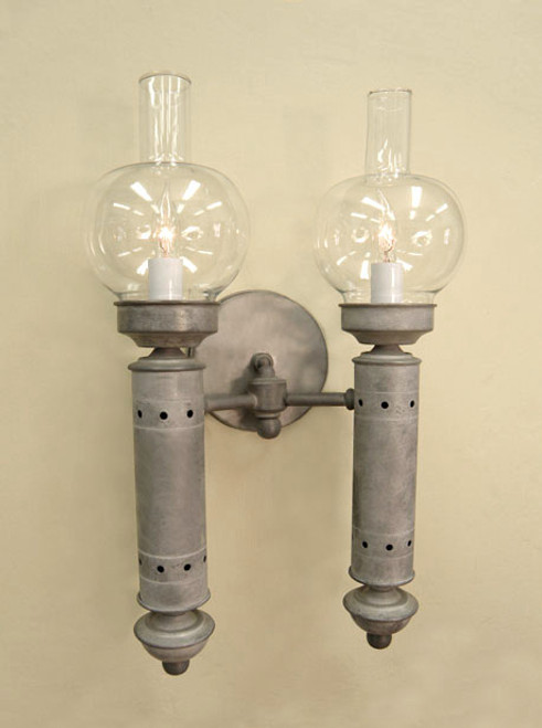 Argand Sconce - Two Arm