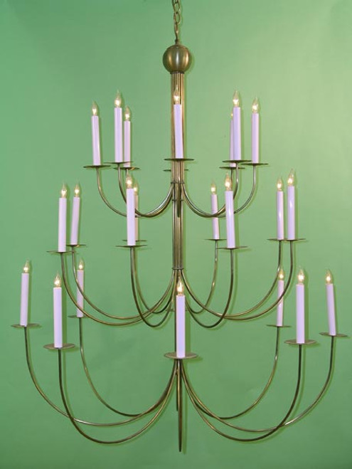 Our Basic Brass 3 tier Equinox Chandelier