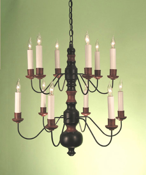 Swedish Farm House Chandelier Two Tier