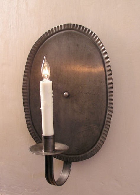 Shaker Primitive Oval Sconce