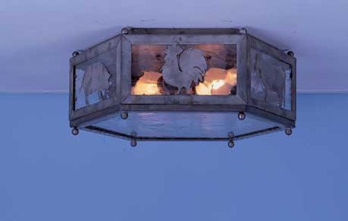 Mission Hill Flush Mount Lantern - Large w/ Silhouettes