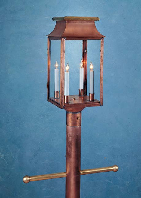 Greenwich Mansard Post Mount Lantern