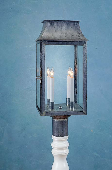 Federalist Mansard Post Mount Lantern
