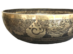 """Etched """"Footie"""" Grounding Bowls"""