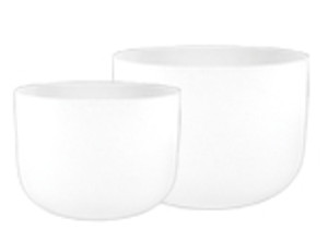 Frosted Crystal Singing Bowls