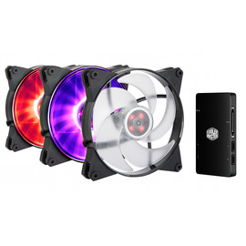 MasterFan Pro 140 Air Pressure RGB 3 in 1 with RGB LED Controller