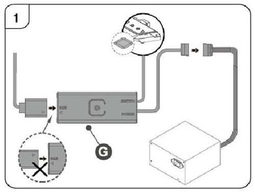 ARGB Controller (Reset switch connectable)