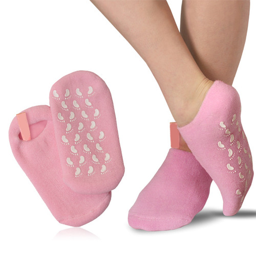 Pedicure Cotton Socks with Gel Inserts