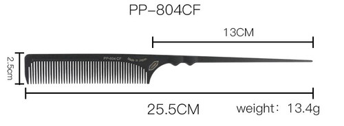 Japanese 100% Carbon Rat Tail Hairdressing Comb