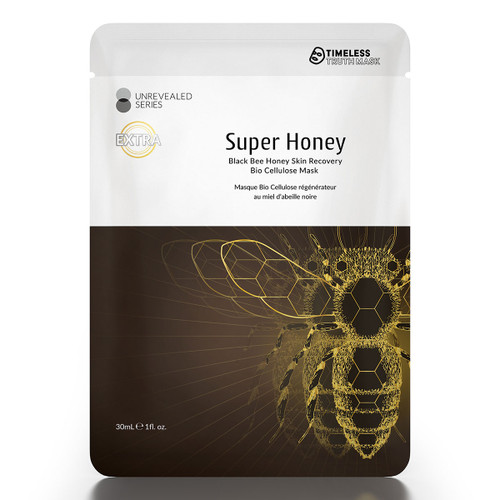 Timeless Truth Super Honey Black Bee Skin Recovery Black Cellulose Mask