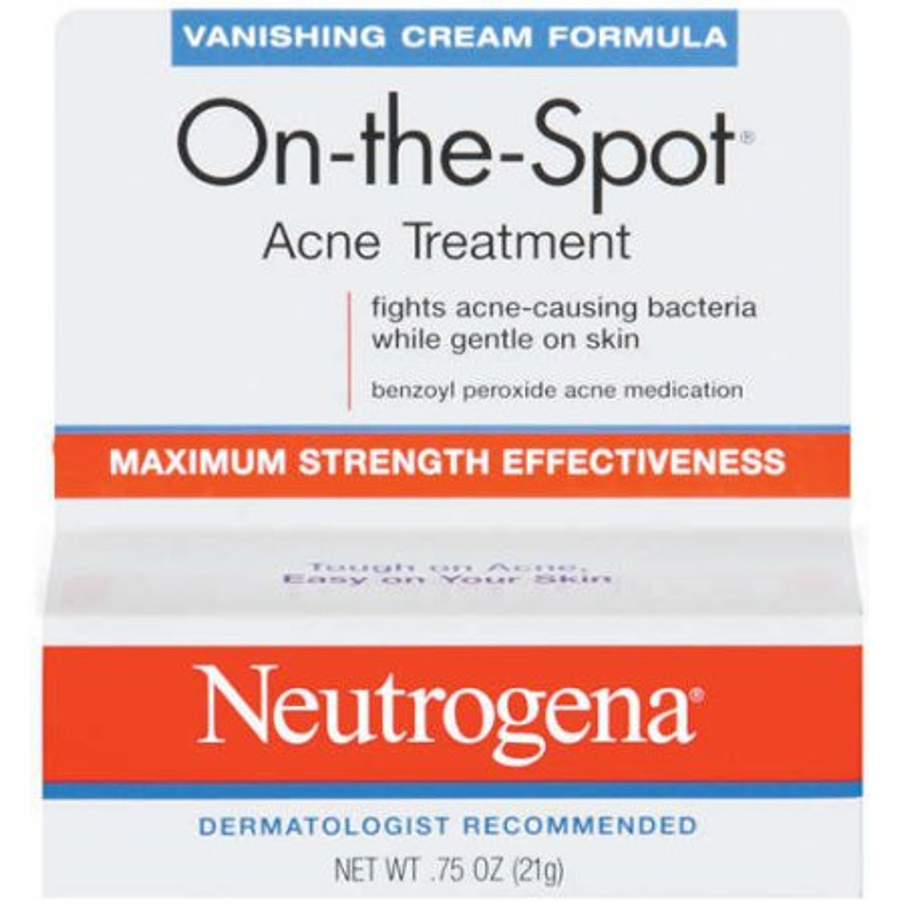 Neutrogena Onthespot Acne Treatment Vanishing Formula 0 75 Oz