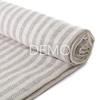 Electronic Fog Linen Chambray Towel - Beige Stripe