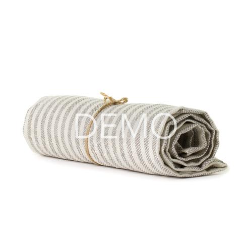 Fashion Fog Linen Chambray Towel - Beige Stripe