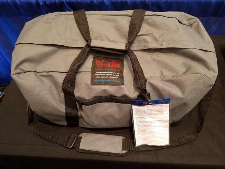 Active Threat Solutions Wound Packing Trainer Kit in Bag.