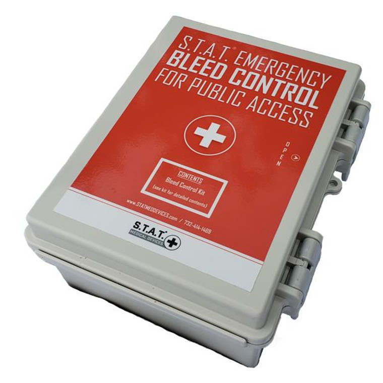 S.T.A.T. Medical Devices Micro Bleed Control Station Wall Mounted Case for indoor outdoor use.