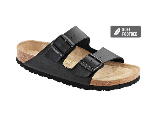 Arizona Birko-Flor (Soft Footbed - Suede Lined) Regular Fit - Black