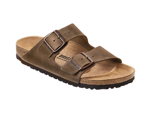 Arizona Natural Oiled Leather (Classic Footbed - Suede Lined) Regular Fit - Tabacco Brown