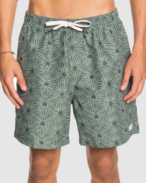 """Mens Threads And Fins 17"""" Volley Boardshorts - Thyme"""