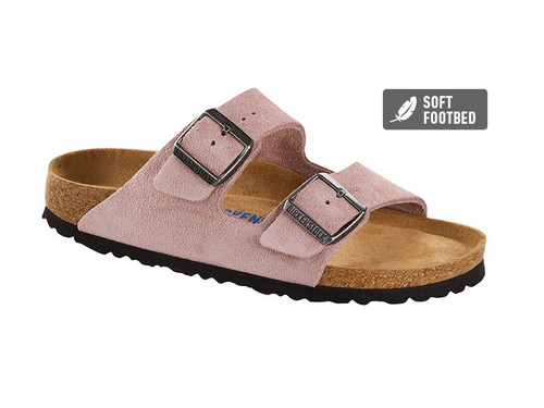 Arizona Suede Leather(Soft Footbed - Suede Lined) Narrow Fit - Lavender Blush