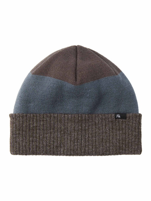 Mens Striped Paddy Cuff Beanie - Sargasso Sea