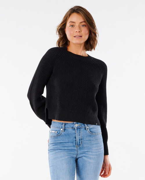Coco Cotton Relaxed Fit Top - Washed Black