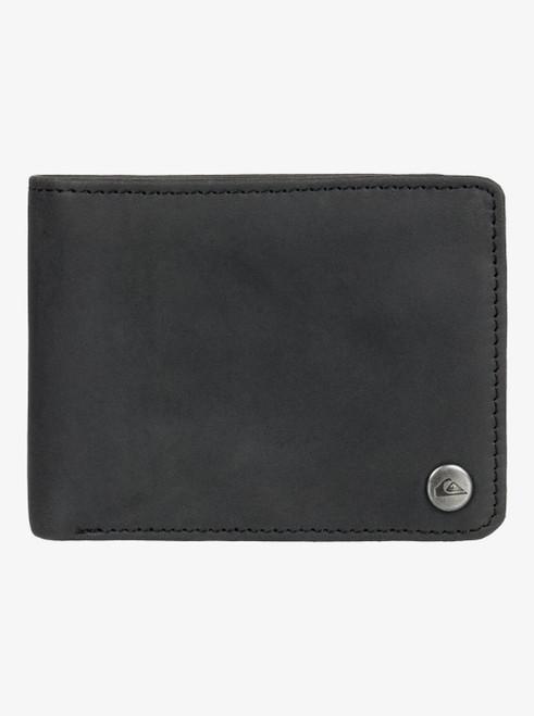 Mens Mack Leather Bi Fold Wallet - Black