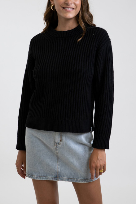 Classic Cable Knit - Black