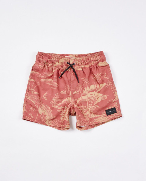 Boys Dreamers Volley Short (0 - 6 years) - Washed Wine
