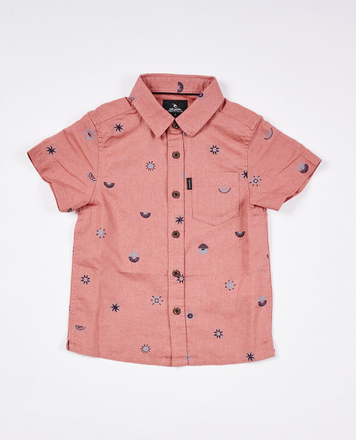 Boys SWC Valley Short Sleeve Shirt (0-7 years) - Washed Wine