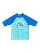Quiksilver Boys 2-7 Tropical Bubble Boy Short Sleeve UPF 50 Rash Vest - Pacific Blue
