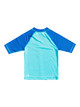 Boys 2-7 Tropical Bubble Boy Short Sleeve UPF 50 Rash Vest - Pacific Blue
