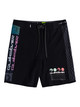 "Boys 8-16 Highline Arch Rave Wave 15""Boardshort - Black"
