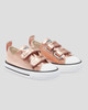 Chuck Taylor All Star Metallic Toddler 2V Low Top - Blush Gold/White/Black