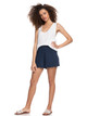 Womens Cozy Day Rib Knit Lounge Shorts - Mood Indigo
