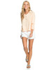 Womens Take It Home Cosy Long Sleeve Top - Apricot Ice