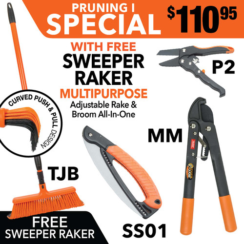 Tiger Jaw Sweeper Raker, SS01, MM, P2 ratchet pruner | Tiger Jaw SPECIAL PRUNING I SWEEPER RAKER MM P2 SS01