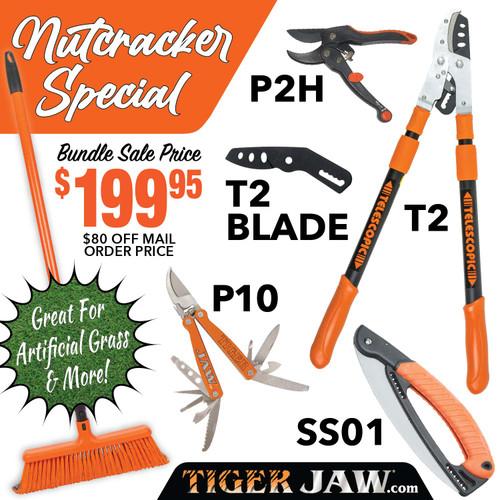 Nutcracker Special Tiger Jaw Sweeper Raker T2, SS01, P10, P2H ratchet pruner | Tiger Jaw SPECIAL NUTCRACKER I T2 SS01 P2H P10 broom rake