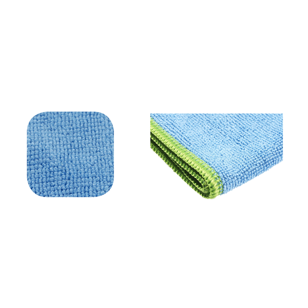 Blue microfiber no need for chemicals