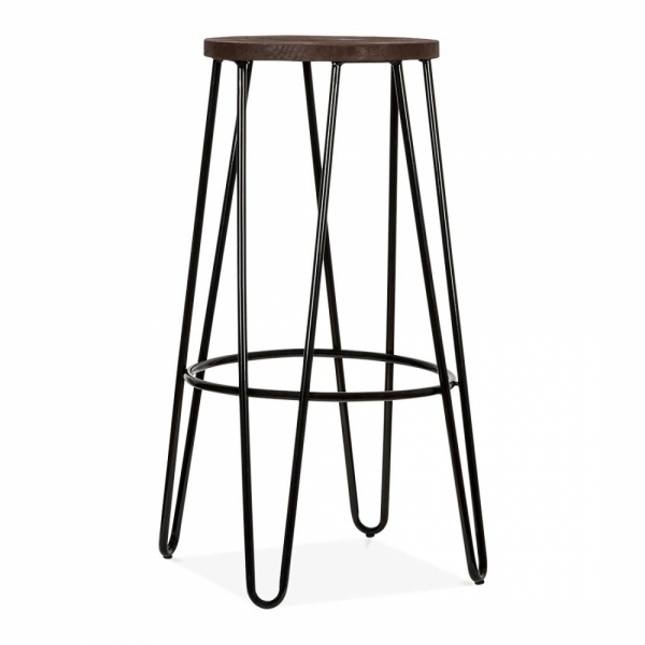 Groovy Hairpin Style Scandi Bar Stool Black 76Cm Bralicious Painted Fabric Chair Ideas Braliciousco