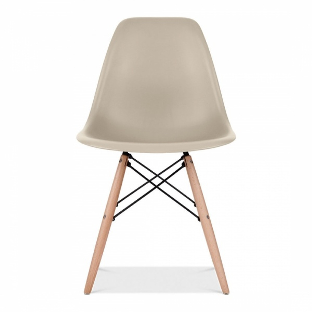 new arrival 383cd c24e3 Eames Inspired Plastic Scandi Dining Chair - Beige
