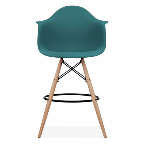 Eames Inspired Scandi PM Armchair Stool - Teal