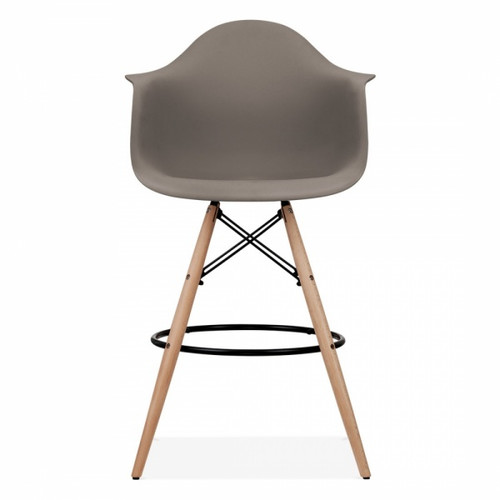Eames Inspired Scandi PM Armchair Stool - Truffle