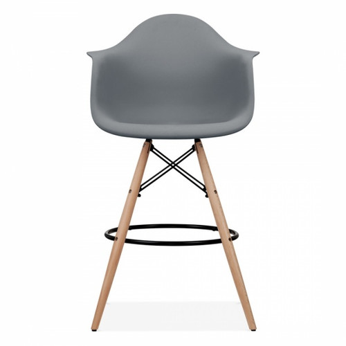 Eames Inspired Scandi PM Armchair Stool - Cool Grey